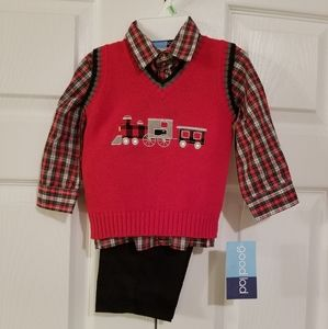 Good Lad Toddler Boys 3 piece outfit 18 Mo